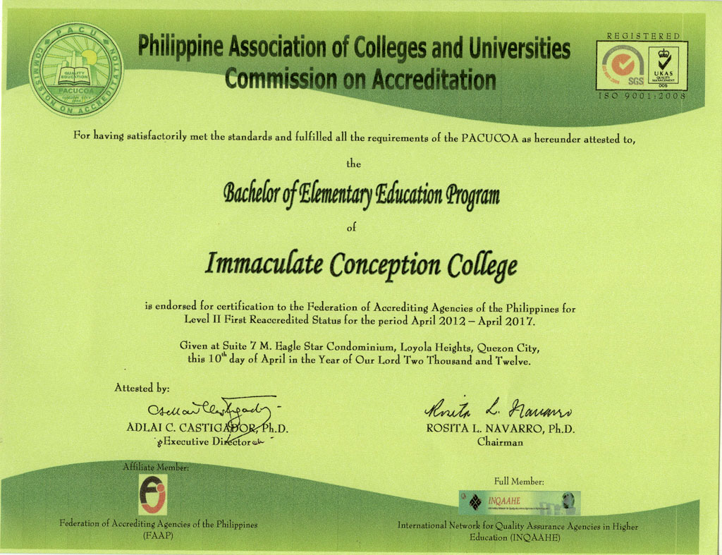 PACUCOA-College-Elementary-Education