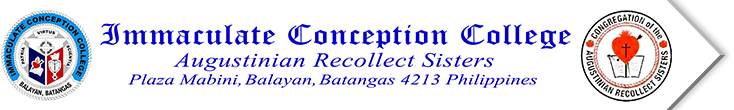 School Seal Immaculate Conception College Balayan Batangas